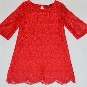 Girls My Michelle Red Lace Dress